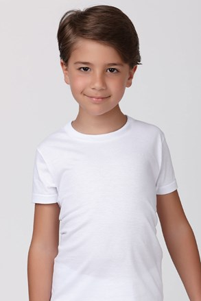 Chlapecké bavlněné tričko bílé