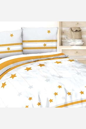 Flanelové povlečení Gold Stars