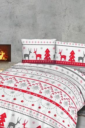 Vánoční flanelové povlečení Sobíci