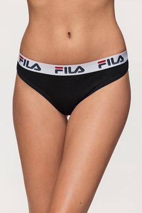 Dámské černé kalhotky FILA Underwear String