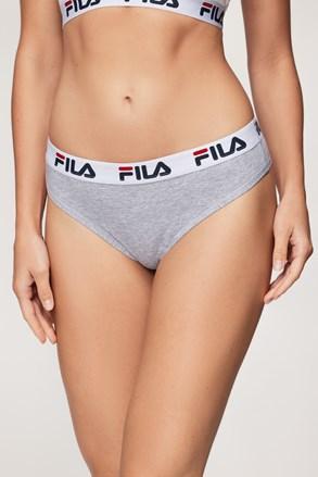 Dámské šedé kalhotky FILA Underwear String