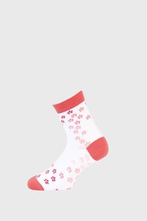 Dívčí ponožky s kytičkami