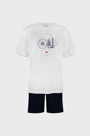 Bílé pyžamo Sailing PLUS SIZE