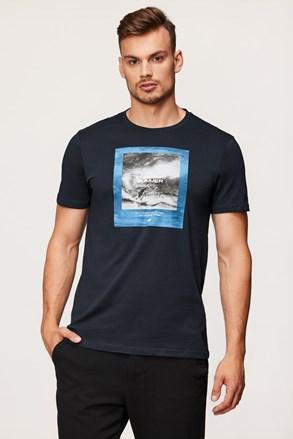 Tmavě modré tričko 4F Sea