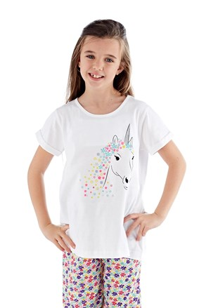 Dívčí pyžamo Polly bílé