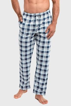 Modré kostkované pyžamové kalhoty