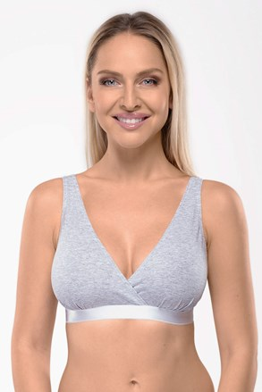 Sutien alaptare Lilly Grey neintarit, din bumbac