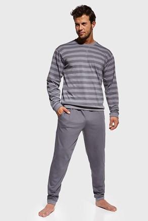 Šedé pruhované pyžamo Loose