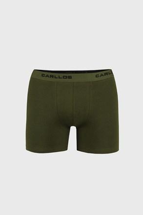 Pánské boxerky v khaki barvě M004