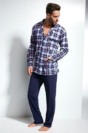 Férfi pizsama kockás mintás Ales II