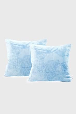 Sada 2 ks povlaků na polštářek světle modrá