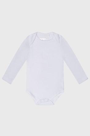 Dětské kojenecké bodýčko s dlouhým rukávem Baby bílé