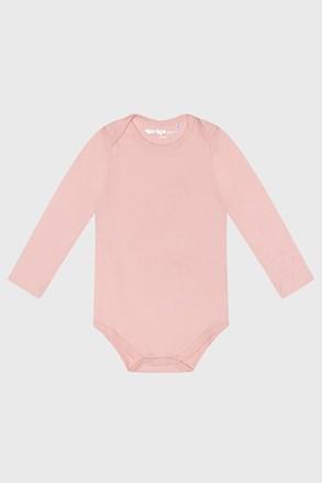 Dívčí kojenecké bodýčko s dlouhým rukávem Baby růžové