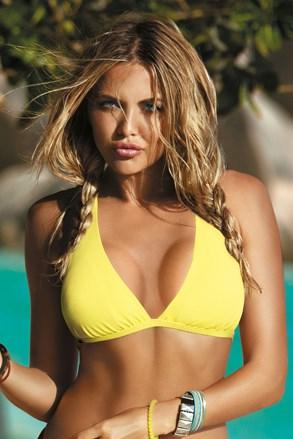 Horní díl dámských plavek Naomi yellow