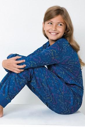 Dívčí pyžamo Jednorožec modré