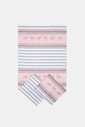SADA 3 ks kuchyňských utěrek Flamingo