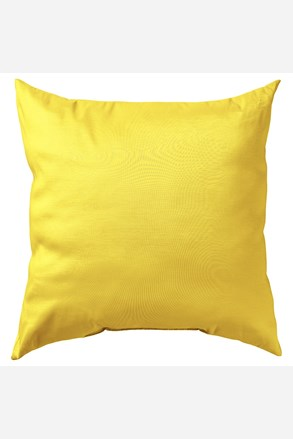 Povlak na polštářek Uni žlutý