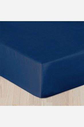 Napínací saténové prostěradlo tmavě modré