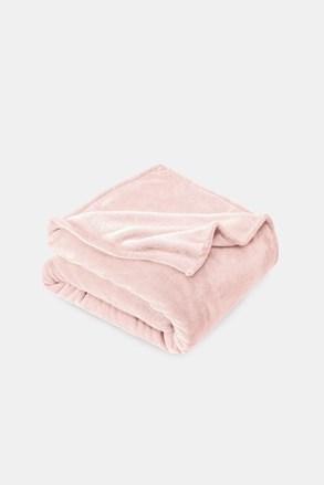 Mikroplyšová deka pudrová