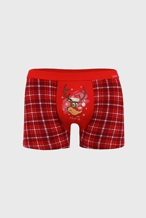 Świąteczne bokserki Reindeer czerwone