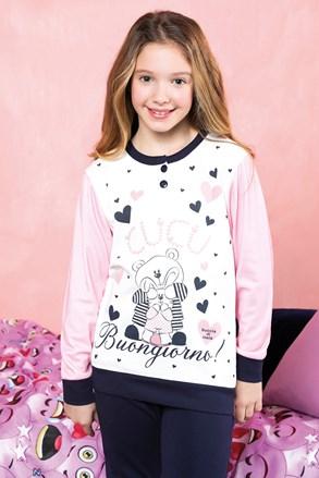 Dievčenské pyžamo Buongiorno modré