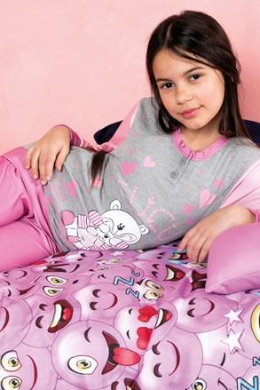 Dievčenské pyžamo Biongiorno ružové