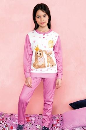 Dívčí pyžamo Hallo růžové