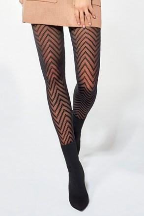 Vzorované punčochové kalhoty Sonia 30 DEN
