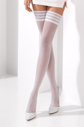 Samodržící punčochy Claine white
