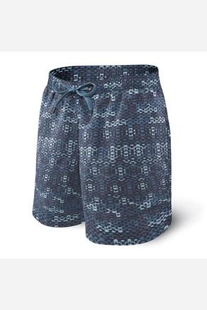 Pánské koupací šortky SAXX Blue Waterfall