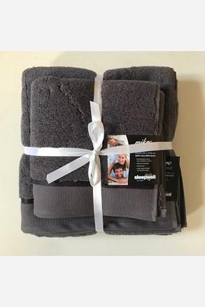 Dárková sada ručníků mikrobavlna antracitová
