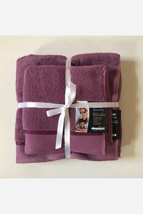 Dárková sada ručníků mikrobavlna fialová