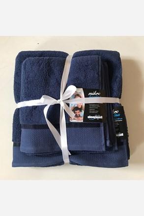 Dárková sada ručníků mikrobavlna námořnická modrá