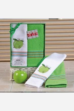 Dárková sada ručníku a utěrky Mimosa jablko