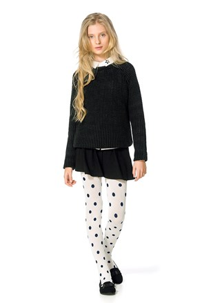 Dívčí bavlněné punčocháče Sherry ecru