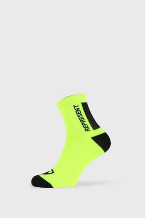 Žluté ponožky Represent Simply Logo