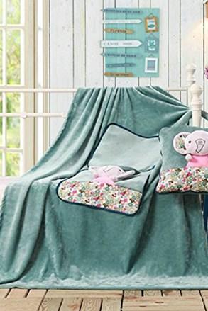Dětský polštářek a deka v 1 Slon