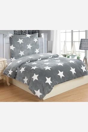 Mikroplyšové povlečení Stars šedé