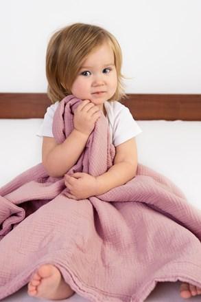 Dětská  deka Muslin růžová