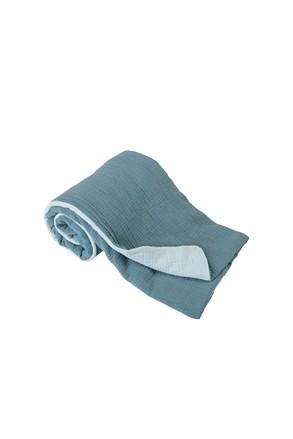 Dětská deka Muslin tyrkysová
