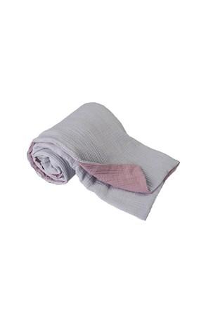 Dětská deka Muslin šedorůžová