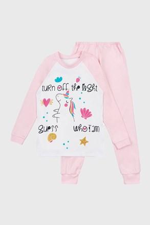 Dívčí svítící pyžamom Unicorn Dream