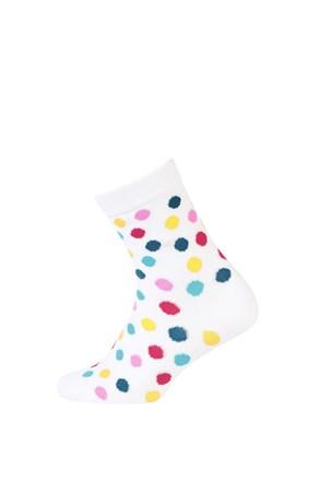 Dětské hladké ponožky barevné puntíky