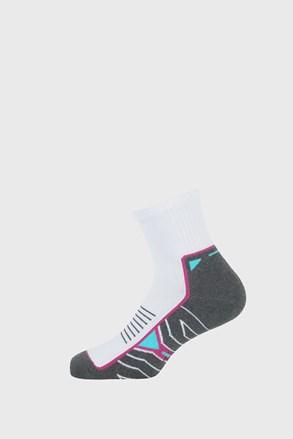 Dívčí sportovní ponožky Active šedobílé