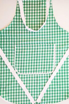 Kuchyňská zástěra Kanafas zelená