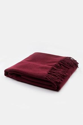 Luxusní deka Merino vínová