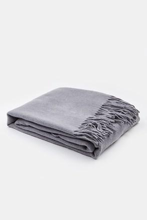 Luxusní deka Merino šedá