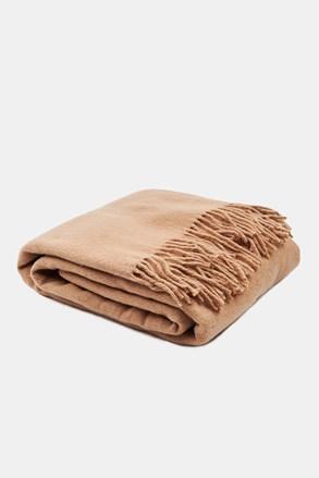 Luxusní deka Merino béžová