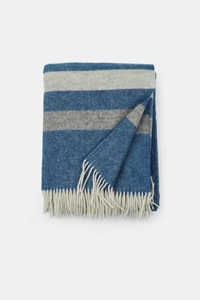 Luxusní vlněná deka Stripe modrá