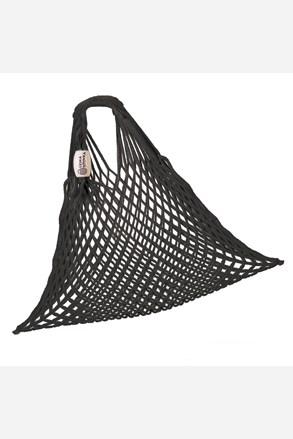 Rugalmas hálós táska, cseh termék, fekete